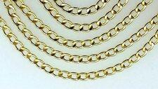 585 echt Gold Flach panzerkette 14k gelbgold Damen Herren Hals kette 50 cm