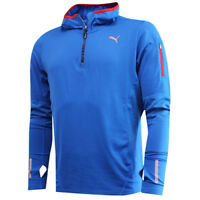 Puma PR Core Half Zip Strong Blue Mens Training Pullover Hoody 512646 01 P5