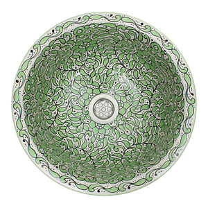 Moroccan Washbasin Sink Ceramic Wash Basin Hand Painted Waste Included SW103
