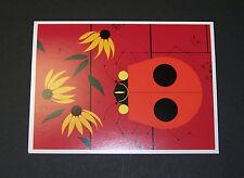 "Charles/Charley Harper Notecards ""Red Bug Red Barn"" 4 Pack w/Envelopes"