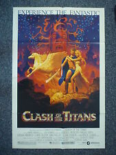 CLASH OF THE TITANS Original Vintage 1980s OS Movie Poster Ursula Andress
