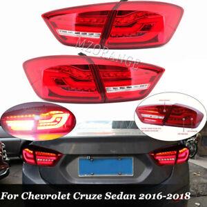 For Chevrolet Cruze Sedan 2016-2018 LED Rear Tail Lights Turn Signal Brake Lamps