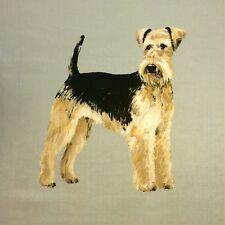 Tex Airedale Terrier Cojín de Terciopelo ex perros Panel ver de Terre Green Dog impresión