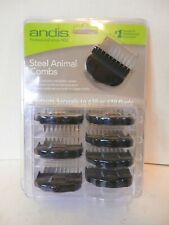 Andis Steel Animal Groomer Combs-NEW-8 Piece Set-Free Shipping