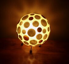Unusual Hand Made Shell Ball Lamp Ethnic Bali Table Lamp