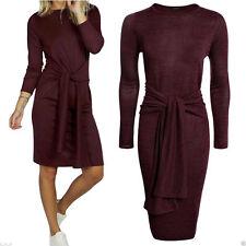 Polyester Long Sleeve Regular Dresses Midi