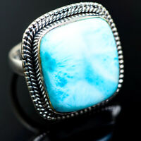 Large Larimar 925 Sterling Silver Rings 7.25 Ana Co Jewelry R985299F