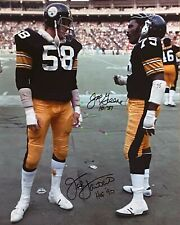 Jack Lambert & Joe Greene Signed Autographed 8x10 photo Reprint