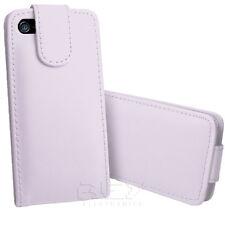 Funda Carcasa para iPhone 5 5S Piel Polipiel Color Blanco Tapa Desde España i83