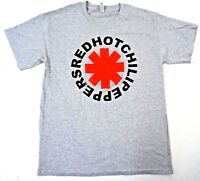 RED HOT CHILI PEPPERS Vintage Logo T-shirt RHCP Rock Tee Adult Men Gray New