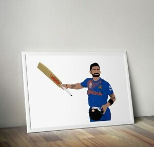 Virat Kohli, cricket, print, poster, prints, posters, wall art, gift, gifts