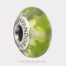 Authentic Pandora Sterling Silver Murano Green Stars Bead 790907