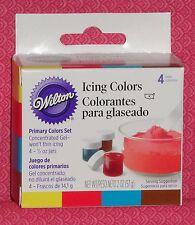 Primary Color,Edible Gel Food Coloring,Icing Colors,Wilton,4, .5 Jars,601-5127