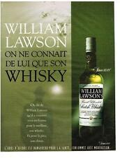 PUBLICITE ADVERTISING    1988    WILLIAM LAWSON   whisky  alcool