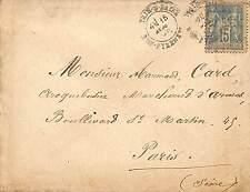 """PARIS ARMAND CARD ENVELOPPE """" ARQUEBUSIER MARCHAND D' ARMES """" 1886 ?"""