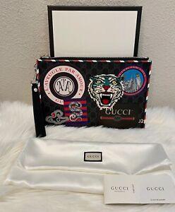 NEW Gucci Courrier GG Supreme Pouch Retail $1150 Unisex