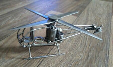 Scrap Metal Welded Helicopter Hand Made Stainless and High Carbon Steel.