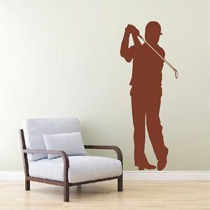 Schatten Wandtattoo  Golf Golfer Golfball Golfschläger Sport Wandaufkleber3