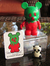 """Disney Vinylmation 3"""" Park Series 1 Poison Bad Apple SIGNED & DATED RANDY NOBLE"""