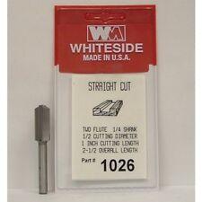 WHITESIDE 1026  STRAIGHT BIT 1/2CD 1CL 1/4SH 2-1/2OAL 2FL ROUTER BIT