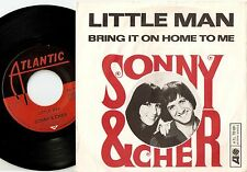 SONNY AND CHER LITTLE MAN & BRING IT ON HOME TO ME GERMAN 45+PS 1966 BEAT SOUL