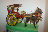 Pair horse drawn 12 volt carriage lamps stainless PONY SIZE
