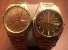 L@@k Vintage Mens Seiko Day Date Watch Lot Two Watches.