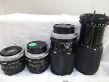 Japan Canon 35mm Camera Lenses Lot of (4) [2- 50mm, 1- 135mm, 1- 80-200mm ZOOM]