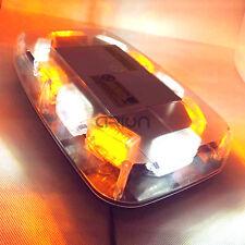 30W 30 LED Emergency Vehicle Magnetic Beacon Warning Strobe Light Amber/White