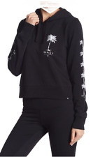 c9bd5cca168 Hurley Women s Black Crop Palm Skull Pullover Hoodie NEW Tags Size XS