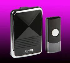 Melodies 36 Wireless Door Bell Chime Black/Silver Plug In 200m Range