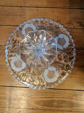 Vintage Pressed Glass Heavy Cake Stand