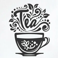 Love Tea Cup Kitchen Wall Tea Sticker Vinyl Decal Art Restaurant Pub Decor