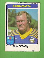 ERROR 1980  PARRAMATTA EELS   SCANLENS RUGBY LEAGUE  CARD #122  BOB O'REILLY