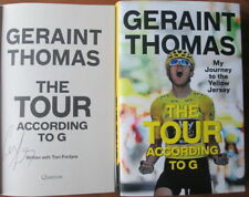 Signed Geraint Thomas The Tour According to G 1st Cycling Yellow Jersey France
