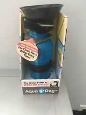 Aqua Dog Water Bottle For Dogs On The Go! Clean Fresh Water 1way valve BRAND NEW