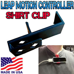 3D Printed Shirt Clip For Leap Motion Controller Black