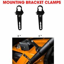 2x 1 inch Tube Bull Bar/Roll Bar Mount Bracket Clamps for Off Road LED Light Bar
