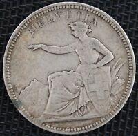 SUISSE 5 FRANCS 1874 B ARGENT