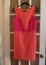 Ann Taylor LOFT DRESS pink orange NWT sz 10 SHEATH colorblock