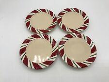 Longaberger Pottery Peppermint Twist Coasters Set of 4 #31875