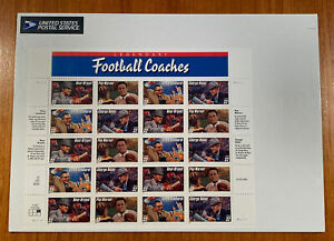 1996 FOOTBALL COACHES Sheet of 20 Stamps US 32¢ Scott 3143-46 MNH Sealed