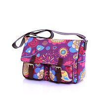 Girls Ladies Womens School Trendy Handbag Shoulder Satchel Across Body Bag