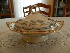Brown Westhead Moore Albion Gold Highlights & Trim Covered Tureen Green 1893 8-1