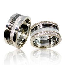 2 Trauringe 925 Silber GRAVUR + Etui Eheringe Verlobungsringe Partnerringe 3318