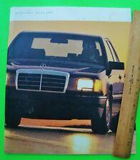 1987 MERCEDES BENZ 300-Class PRESTIGE CATALOG Brochure 52-pgs+ WAGON Turbo 300E