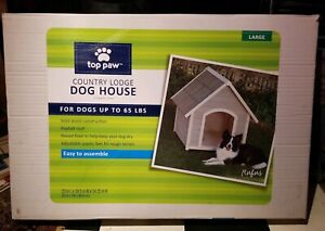 PRECISION PET OUTBACK COUNTRY LODGE DOG HOUSE FOR DOGS UP TO 65 LBS. Free Ship!