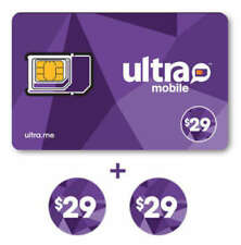 Ultra Mobile $29 Plan for 2 Months with Triple Punch SIM card