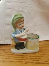 Christmas Luvkins Porcelain Candle Holder Jasco Taiwan Votive Little Drummer Boy