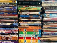 150 DVD LOT WHOLESALE ASSORTED TV Series Comedies Kid Thrillers Horror RESELL